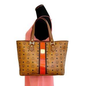 MCM Authentic Brown Shopper Tote Bag